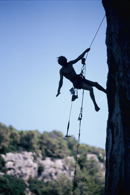 Rock climbing in Adriatic